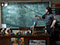 Jeremy Conway Design for School of Rock, Classroom Set, History of Rock, Chalkboard, Dewey teaches